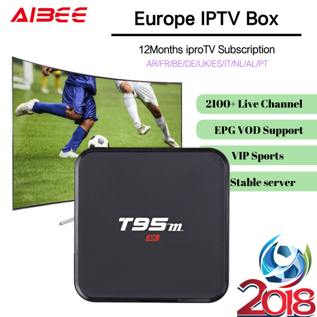 US $79 0 |Android IPTV Box 1 Year Iprotv Europe 1500+ Live TV French Arabic  IPTV player Amlogic S905 Android 6 0 WiFi Bluetooth 4 0-in Set-top Boxes