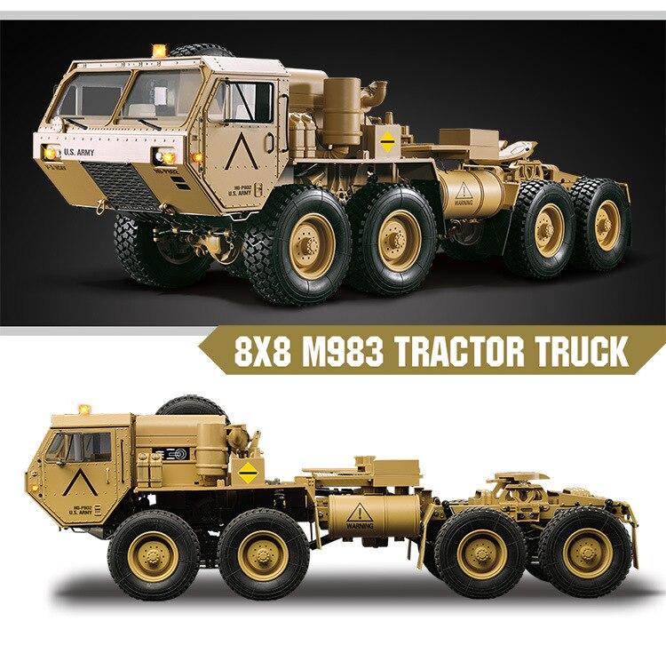 Charge 10Kg 1:12 Simulation militaire carte modèle 8 roues motrices militaire carte remorquage modèle RC télécommande véhicule jouets pour adolescents - 2