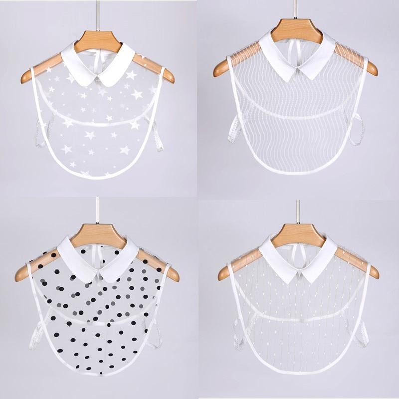 Lace Flowers Fake Collars For Women Lace White Detachable Half Shirt Apparel Accessories Decoration Detachable Collars