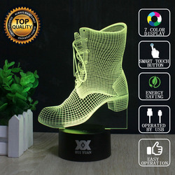 هوى يوان العلامة التجارية USB 3D مصباح الوهم البصري ليلة ضوء الجدة الأحذية مصابيح عطلات متوهجة الأطفال هدية الكريسماس