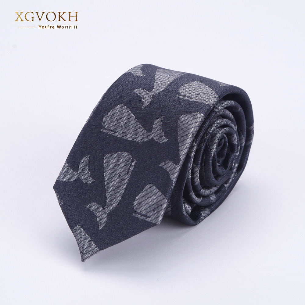 Men ties necktie Men's business wedding tie Male gift gravata Whale pattern JACQUARD WOVEN 6cm