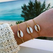 High Quality Bohemian Beach Cowrie Shell Charm Adjustable Bracelet for Women Gold Alloy Chain Bracelets Boho Jewelry Accessories