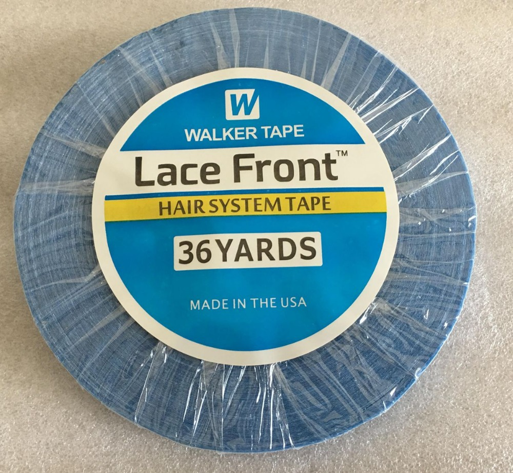 1 roll/Lot 0.8 cm wide 36 yards Blue Strong Adhesive Tape for lace wig and toupee Double side tape men cut and sew panel tape side tee