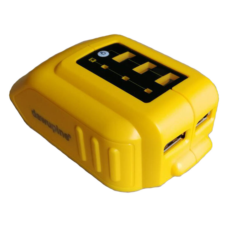 dawupine USB Converter Charger For DEWALT 14.4V 18V 20V Li-ion Battery Converter <font><b>DCB090</b></font> USB Device Charging Adapter Power Supply image