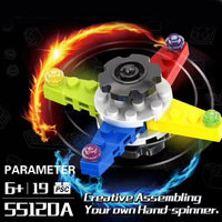 Building Blocks Tri-Spinner Fidgets Toy Plastic EDC Sensory Fidget Spinner For Autism and ADHD Kids/Adult Funny Anti Stress Toys