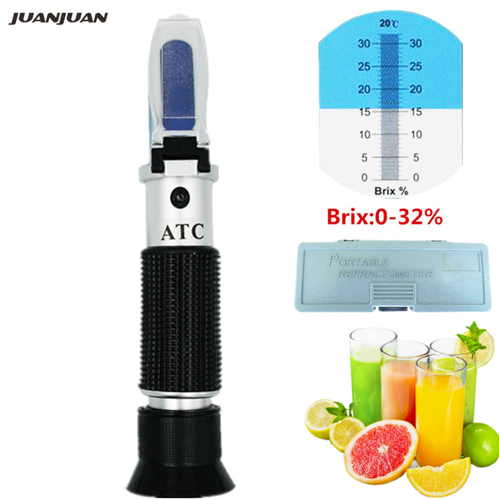 Sugar level meter Optical Refractometer 0-32% Brix for Sugar Measuring Instrument with retail box 32% off