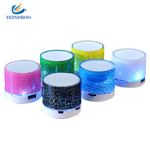 Mini LED Column Wireless Bluetooth Speaker TF USB MP3  Portable Music Loudspeakers Hand-free call For iPhone 6 Phone PC with Mic led mini wireless bluetooth speaker a9 tf usb portable musical subwoofer loudspeakers for phone pc with mic