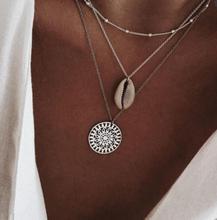FAMSHIN Boho Fashion Multi layer Gold Silver Color Conch Shell Pendants Necklace For Women Ocean Seashell Beach Jewelry