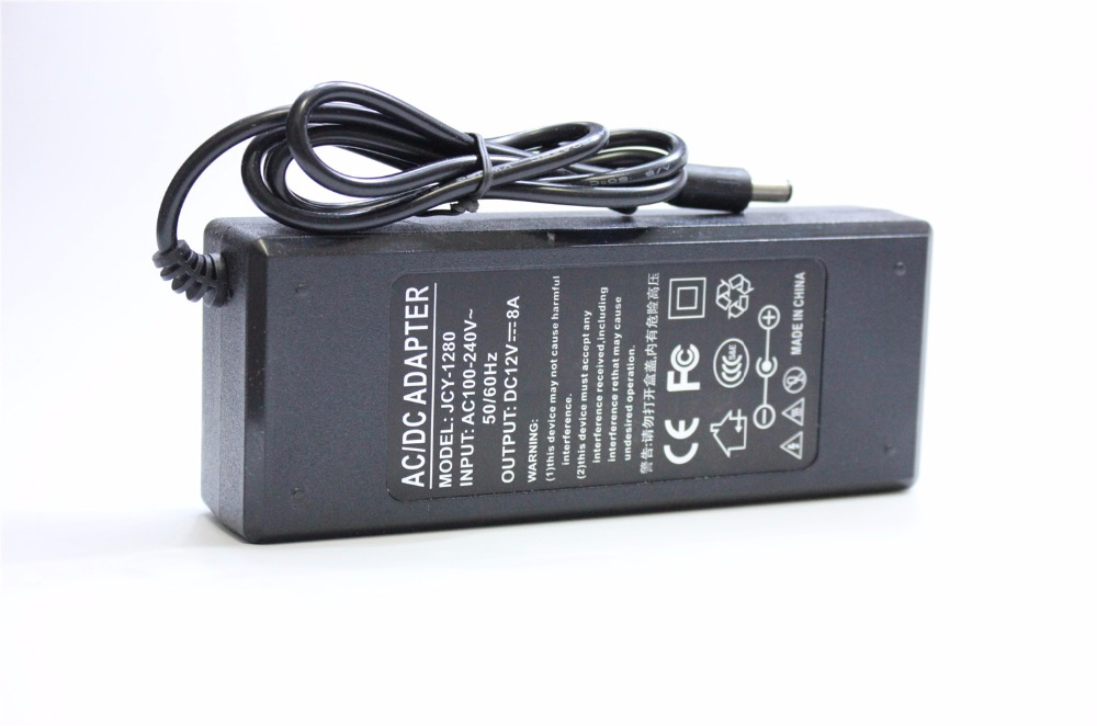 купить High Quality Universally Used AC Converter Adapter For DC 12V 8A 96W LED Power Supply Charger for 5050 3528 SMD Light LCD CCT недорого