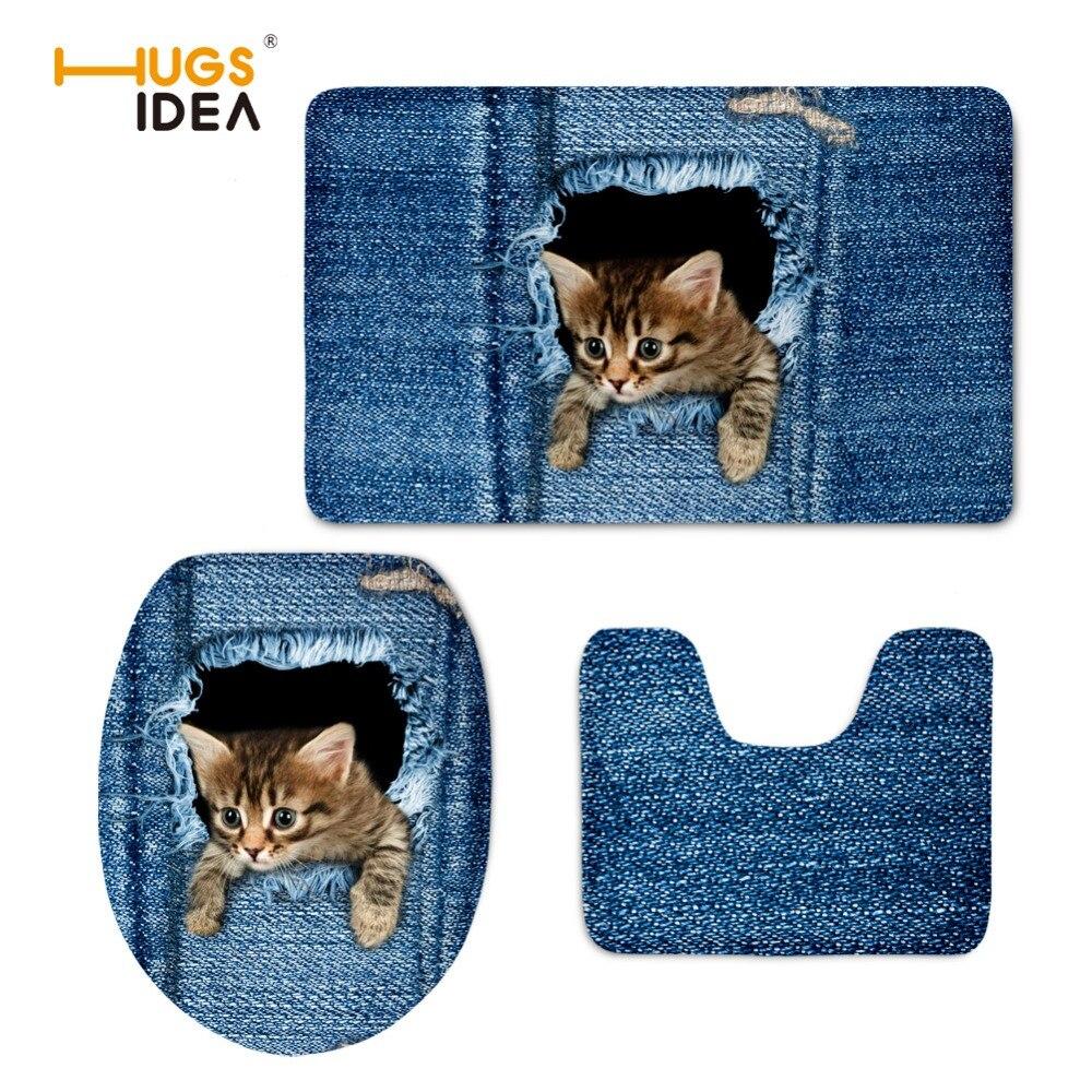 HUGSIDEA smešno pralno torbico za sedež toplejšega tiska jeansa - Gospodinjski izdelki