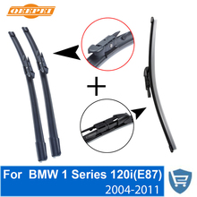 QEEPEI Front and Rear Wiper Blade no Arm For BMW 1 Series 120i(E87) 2004-2011 High quality Natural Rubber windscreen 20+20