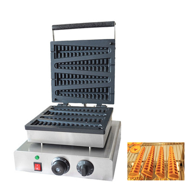 BEIJAMEI 4 Sticks automatic commercial electric lolly waffle machine tree shape lolly waffle maker making machine