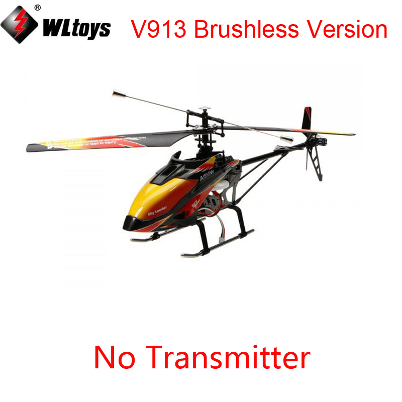 Original Wltoys V913 Brushless Version Without Tranmitter V913B RC Helicopter BNF With Battery And Charger (No Controller)Original Wltoys V913 Brushless Version Without Tranmitter V913B RC Helicopter BNF With Battery And Charger (No Controller)