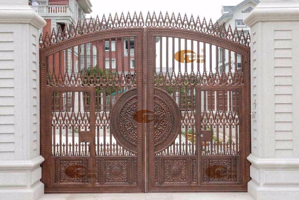 Beautiful Home Aluminium Gate Design / Steel Sliding Gate / Aluminum Fence Gate  Designs Hc Ag20