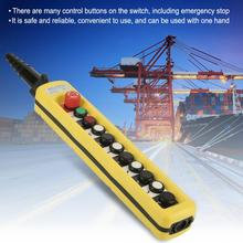цена на Hoist Switch Control for hoist crane Crane Chain Hoist Push Button Switch Lifting Pendant Controller w/ Emergency Stop