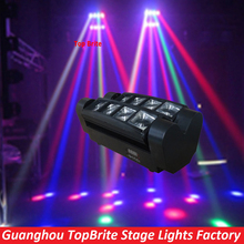 2016 Free Shipping Hot Sales Portable NEW Moving Head Light LED Mini Spider 8*3W RGBW Beam Light For christmas laser projector