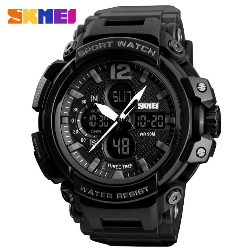 SKMEI Fashion outdoor Sport Watch 50M Waterproof Men Watch with Complete Calendar Back Light Digital Watches Relogio Masculino(China)