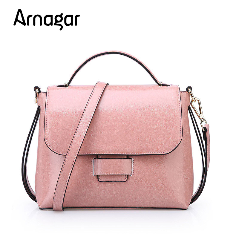 Arnagar New Arrival Women Genuine leather bag Shoulder Bag famous brands Contracted design bowknot handbag For Ladies