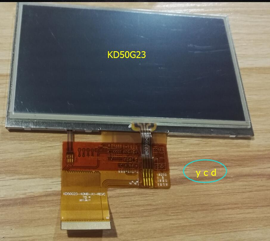 5inch original new Tape tp kd50g23-40nb-a1-revc screen navigation gps with touch kd50g23