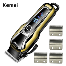 100-240V kemei rechargeable hair clipper hair shaving machine hair trimmer professional hair cutting beard electric razor barber