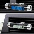 Moda LCD Carro relógio eletrônico Digital relógio + termômetro auto estilo cool