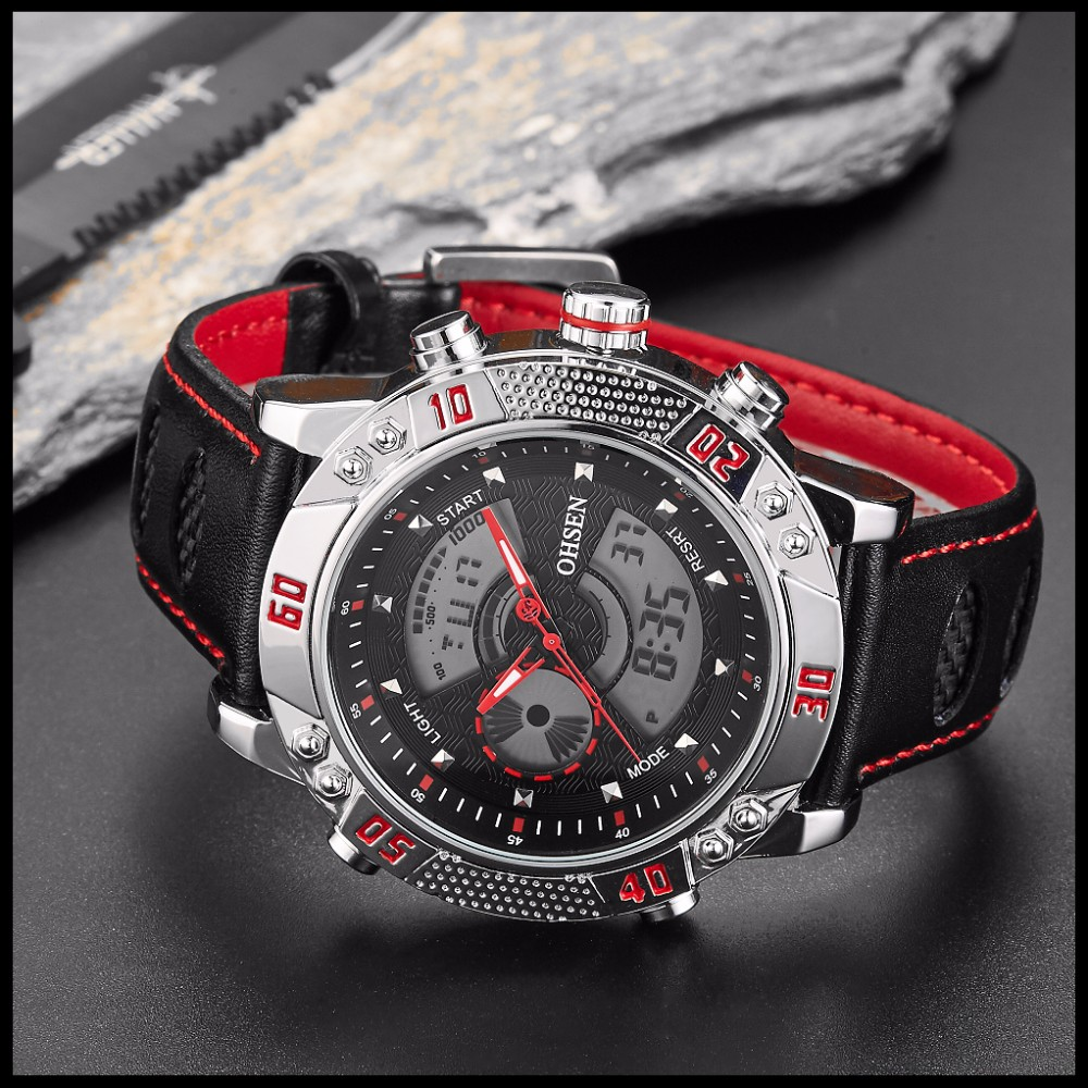 OHSEN Brand Mens Fashion Casual Reloj Quartz Watch Digital LED Relogios Military Relogio Masculino Diving Waterproof Men Watches (31)