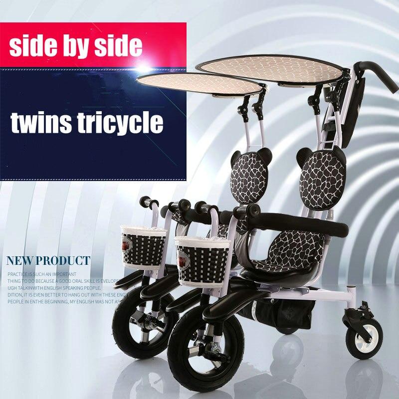 Panda zwillinge dreirad luft aufblasbare gummi rad stahlrahmen twins ...