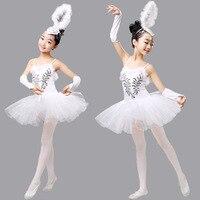 2017 New Children S Swan Costume Kids Ballet Dance Costume Stage Professional Ballet Tutu Dress High