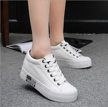 New 2016 Spring Autumn Shoes For Women Fashion Lace-up Canvas Woman New Low Shoes Platform Shoes Women Flat Casual Ladies Shoes
