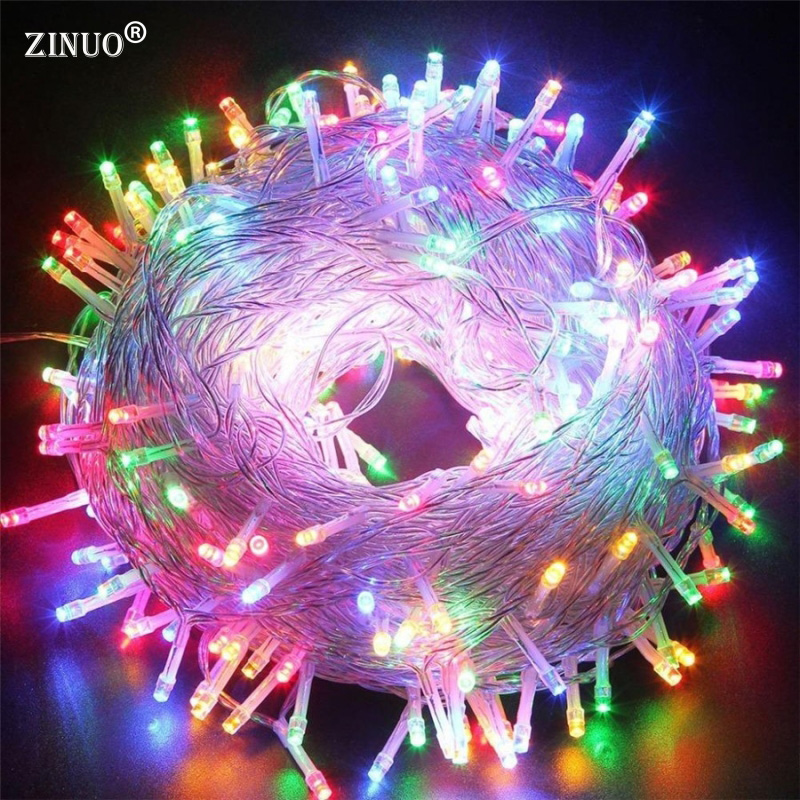 ZINUO 30M 50M 100M LED Garland AC110V 220V Fairy String Waterproof Christmas Lights Outdoor For Xmas Wedding Decoration