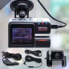 I1000 1200mega HD 1080P Dual Lens Car DVR Dash Cam Video Camera Recorder Rear view 170