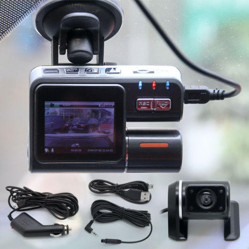 I1000 1200mega HD 1080P Dual Lens Car DVR Dash font b Cam b font Video Camera