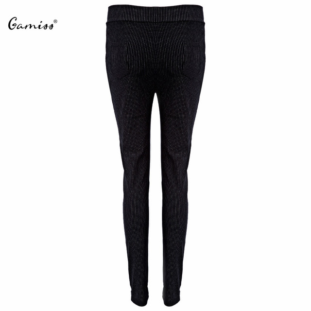 Casual Female Skinny Pants High Elastic Waist Fashion Striped Women Pants Ankle Length Streetwear Stylish Spring Fall Pants