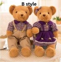 Yaklaşık 35 cm severler çiftler ayılar peluş oyuncak düğün oyuncak ayı yumuşak bebek sevgililer Günü, teklif hediye b2913