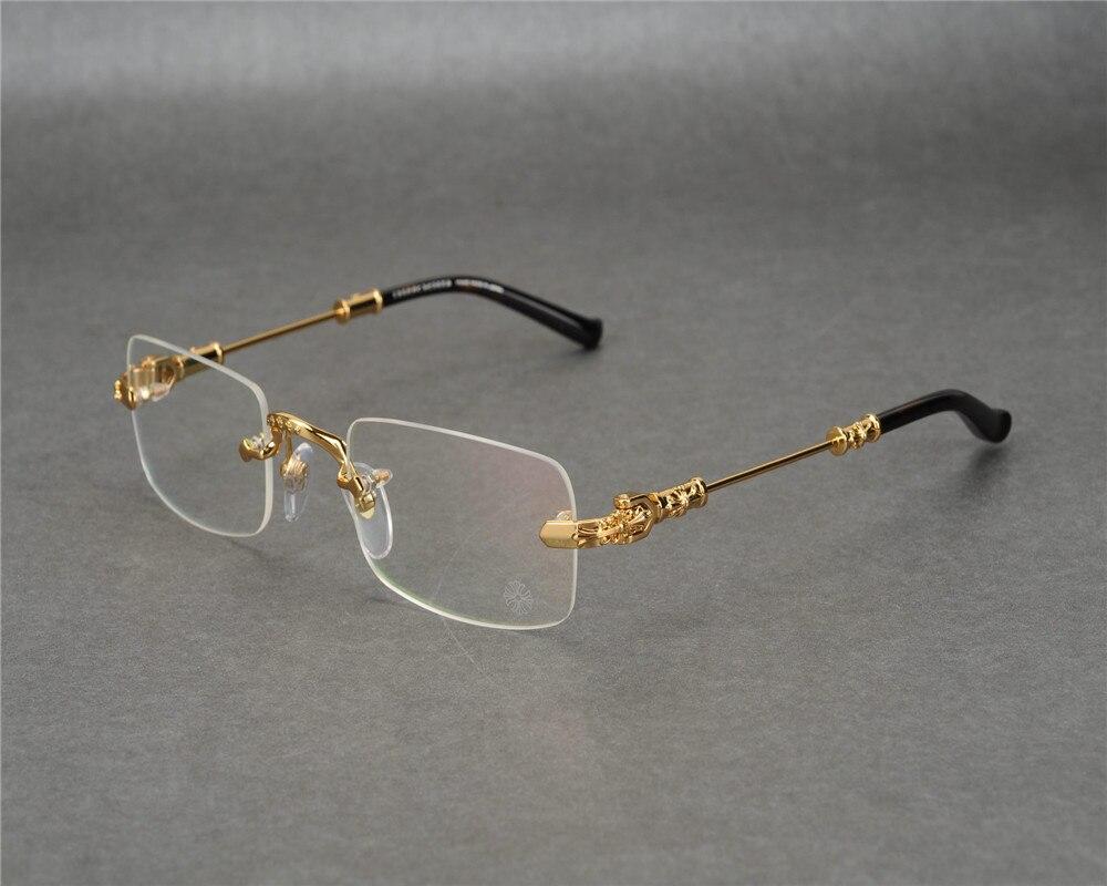 0f7118ee05 DOWER ME Rimless Fashion New Business Design Men Gold Silver Clear Lens Myopia  Eyewear Frame Reading Eyeglasses JLS
