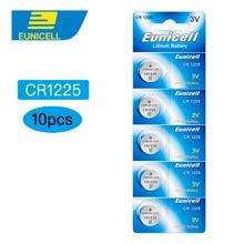 10 pcs CR1225 LM1225 BR1225 ECR1225 KCR1225 3 V Lithium Botão Celular Coin baterias Bateria EUNICELL