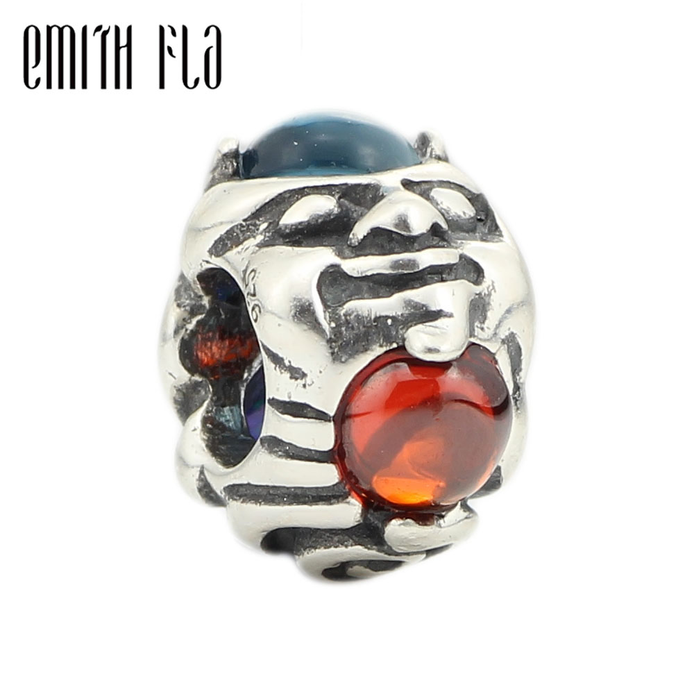 Emith Fla 100% 925 Sterling Silver Troll with Gem Charm Beads Fit Original European Bracelet Authentic DIY Beads Jewelry Making 925 sterling silver charms brush crystal pendant european charm beads fit bracelet bangle original jewelry making