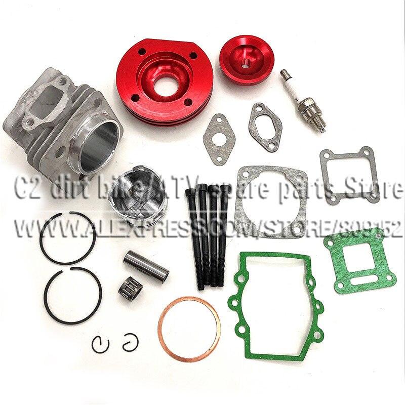 44mm cylindre Assy grand alésage 44-6 Kit Set 2 rainures pour 47cc 49cc Mini saleté ATV poche vélos Minimoto