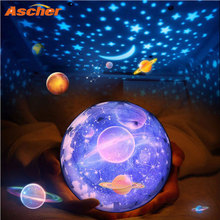 LED Starry Sky Magic Star Moon Planet Projector Night Lamp Cosmos Universe Luminaria Baby Nursery Light Kids Birthday Gifts