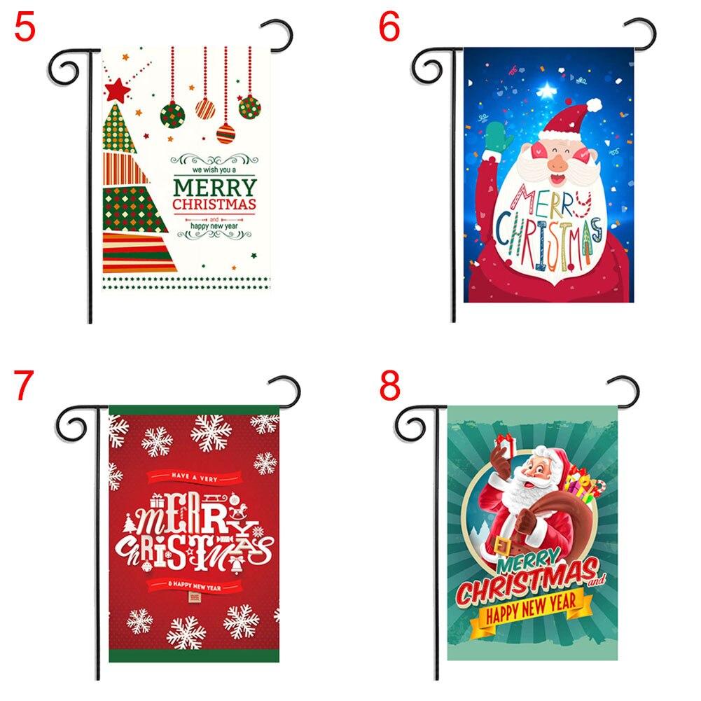 Christmas Reindeer Snowman Sending Gifts Santa Claus Garden Flag Indoor Outdoor Home Decor HG99
