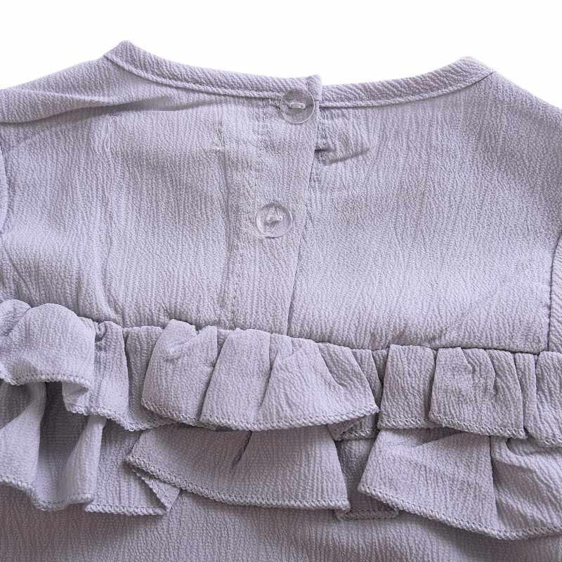 WEIXINBUY Baby Girl Cotton Cozy Camisetas para Bebês Irritar Colarinho Branco Puro Camiseta Infantil Do Bebê Roupas de Menina