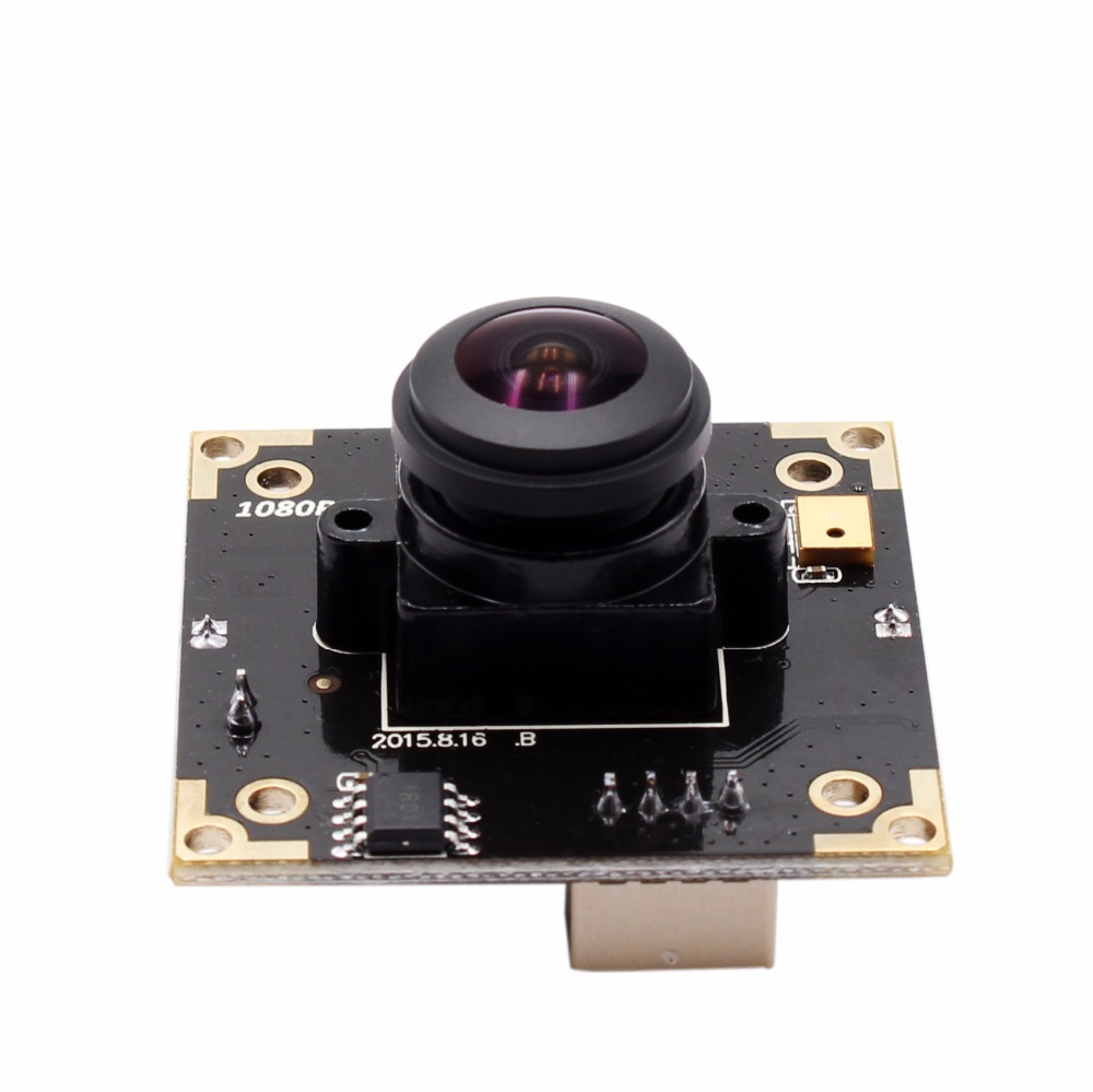 1080P HD WDR Usb 2.0 H.264 Mini Webcam Industrial Machine Vision Camera Module Board with Mic for Android Linux Windows MAC OS