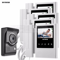DIYSECUR 4.3inch Handheld Video Intercom Video Door Phone Door Bell 700TV Line Night Vision HD Camera for Home Office Factory