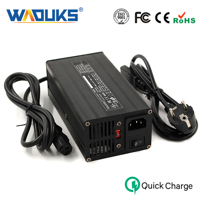 WAOUKS 67.2V 5A Charger For 16S 16-cell 60V Li-ion Lithium Battery Pack Fast charge