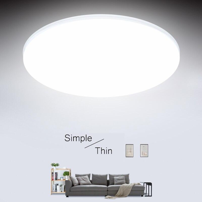 Ультратонкие светодиодные потолочные светильники 15/20/30/50 Вт, современные светодиодные потолочные светильники для гостиной, поверхностного...