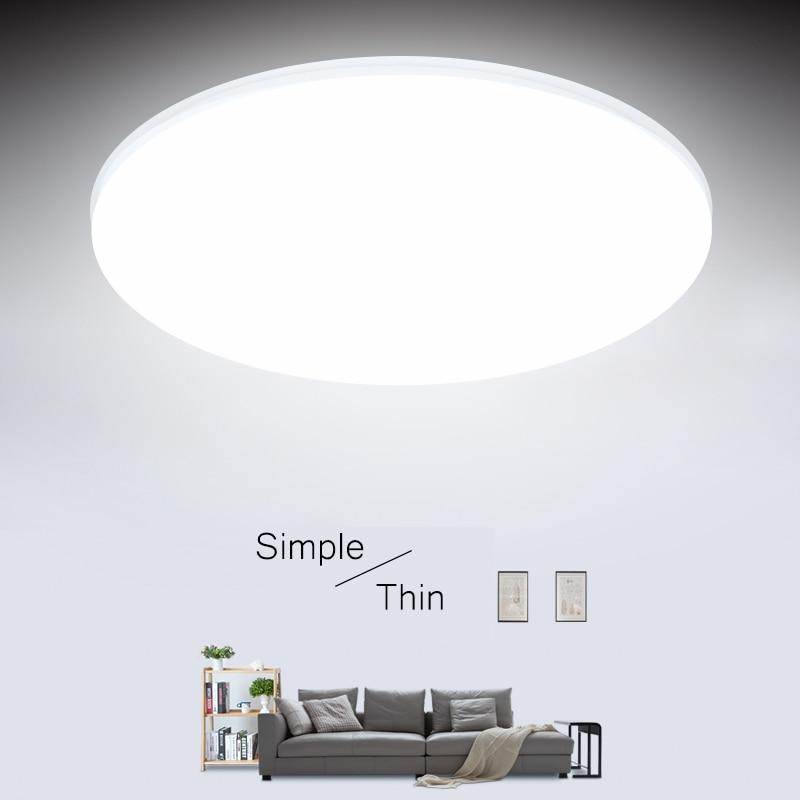 Ultra Thin LED เพดาน 15/20/30/50W โคมไฟเพดาน LED โมเดิร์นสำหรับห้องนั่งเล่นพื้นผิวโคมไฟเพดาน LED
