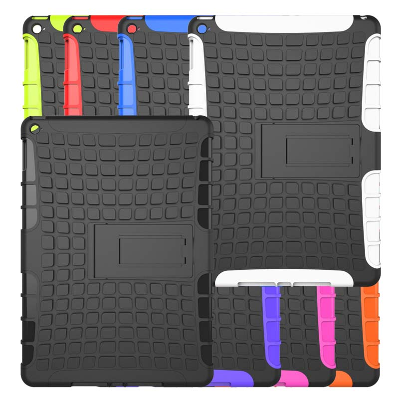 2 in 1 TPU + PC Spider Heavy Duty Armor Hybrid Kickstand Shockproof Stand Holder Cover Case for Apple ipad air 2 ipad 6 Tablet