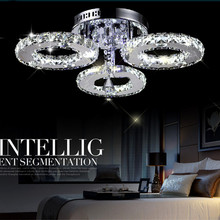 Creative personality LED energy-saving Chandeliers brief living room  led crystal circle light lighting  Creative personality