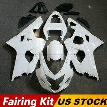 ZXMT Fairing Kit For Suzuki GSXR600 GSXR750 2004 2005 K4 Unpainted Molded ABS Injection Bodywork цена 2017