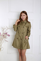 2016 New Double Breasted Coat A Raincoat In Japan And Korea Super Thin Dry One Generation